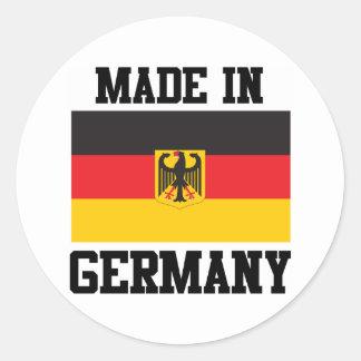 Hecho en Alemania Pegatina Redonda
