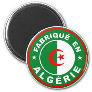 hecho en algerie del fabrique de la etiqueta de la imán