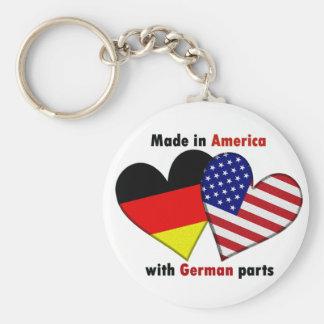 hecho en América con las piezas alemanas Llaveros Personalizados