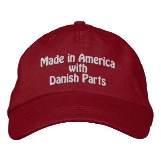 Hecho en América con las piezas danesas Gorra De Béisbol Bordada
