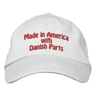 Hecho en América con las piezas danesas Gorra De Béisbol