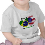 hecho en América con las piezas del brazilin Camiseta