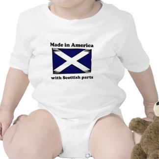 Hecho en América con las piezas escocesas Camisetas