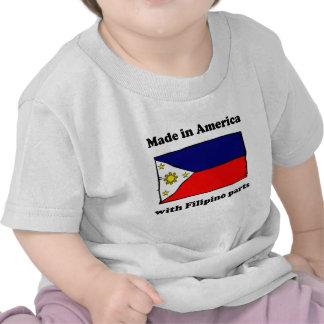 Hecho en América con las piezas filipinas Camisetas