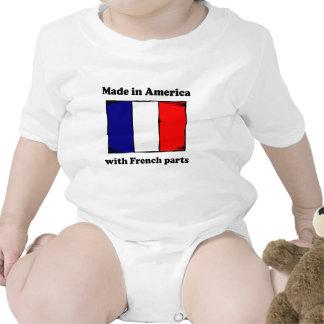 Hecho en América con las piezas francesas Camisetas