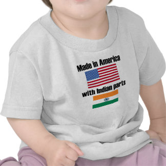 Hecho en América con las piezas indias Camisetas