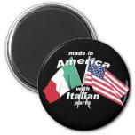 Hecho en América con las piezas italianas Imán