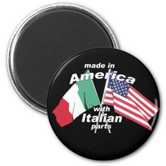Hecho en América con las piezas italianas Imán Redondo 5 Cm