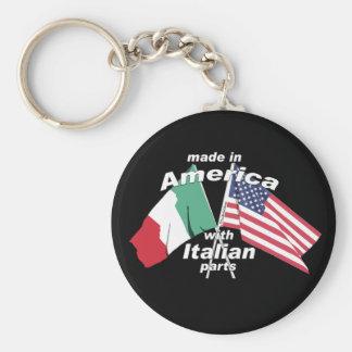 Hecho en América con las piezas italianas Llavero