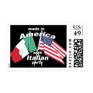 Hecho en América con las piezas italianas Sello