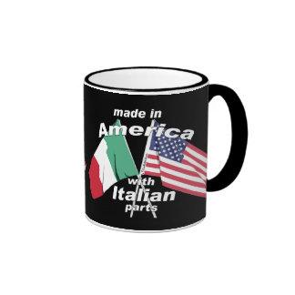 Hecho en América con las piezas italianas Taza De Dos Colores