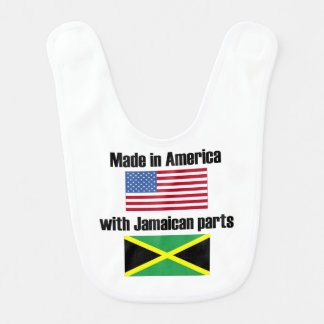 Hecho en América con las piezas jamaicanas Babero De Bebé