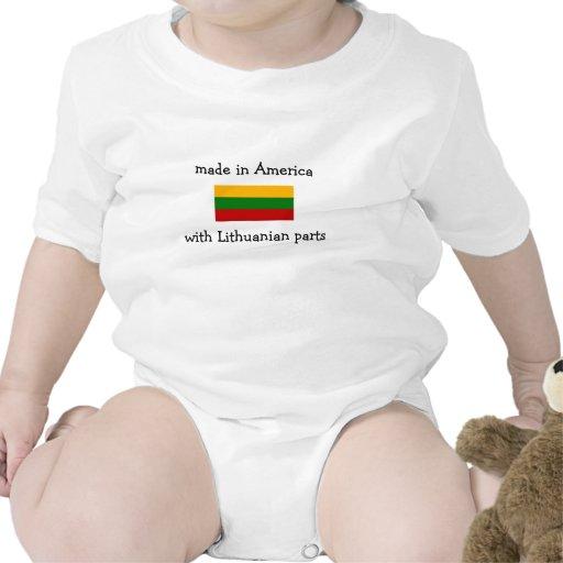 hecho en América con las piezas lituanas Traje De Bebé