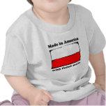 Hecho en América con las piezas polacas Camisetas
