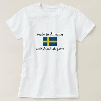hecho en América con las piezas suecas Remeras