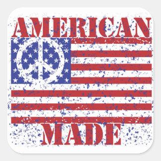 Hecho en América Pegatina Cuadrada