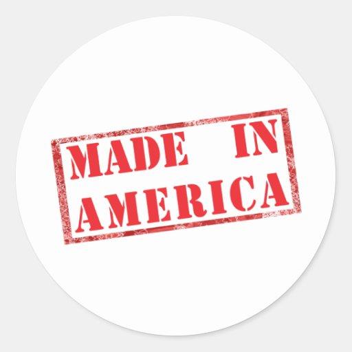 ¡Hecho en América! Pegatina Redonda
