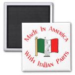 Hecho en americano con el italiano parte el imán