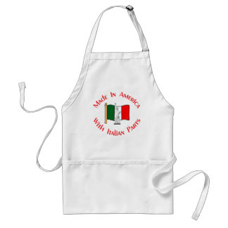 Hecho en americano con las piezas italianas delantales