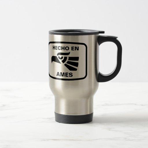 Hecho en Ames personalizado custom personalized 15 Oz Stainless Steel Travel Mug