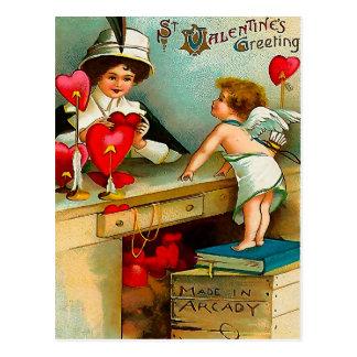 Hecho en Arcady - saludo del el día de San Valentí Tarjeta Postal