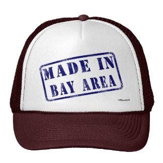 Hecho en área de la bahía gorras