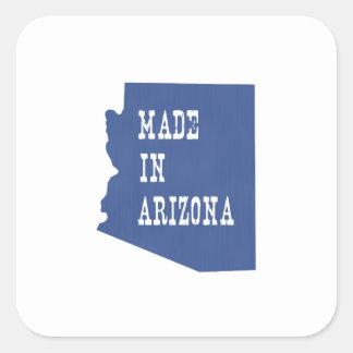 Hecho en Arizona Pegatina Cuadrada