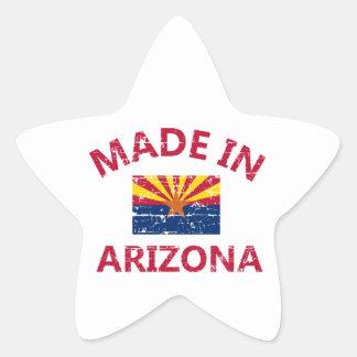 Hecho en Arizona Pegatina En Forma De Estrella