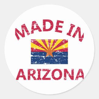 Hecho en Arizona Pegatina Redonda