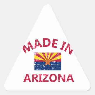 Hecho en Arizona Pegatina Triangular