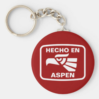 Hecho en Aspen personalizado custom personalized Basic Round Button Keychain