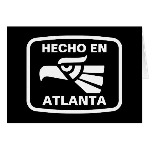 Hecho en Atlanta personalizado custom personalized Greeting Card