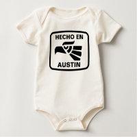 Hecho en Austin personalizado custom personalized Baby Bodysuit