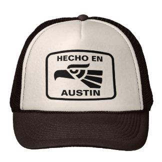 Hecho en Austin personalizado custom personalized Mesh Hat