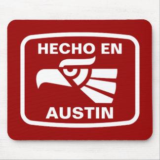 Hecho en Austin personalizado custom personalized Mouse Mat
