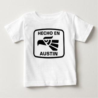 Hecho en Austin personalizado custom personalized Tee Shirt