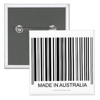 Hecho en Australia Pin Cuadrado