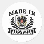 Hecho en Austria Pegatina Redonda