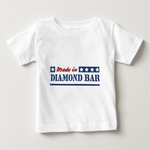 Hecho en barra del diamante tee shirts
