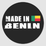 Hecho en Benin Pegatina Redonda