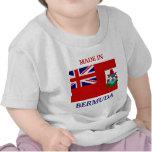 Hecho en Bermudas con la bandera de la camisa del