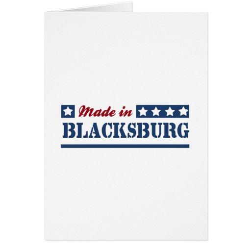 Hecho en Blacksburg Tarjeton
