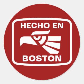 Hecho en Boston personalizado custom personalized Classic Round Sticker