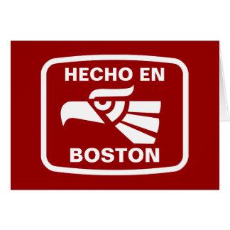 Hecho en Boston personalizado custom personalized Greeting Card