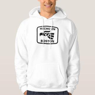 Hecho en Boston personalizado custom personalized Hooded Sweatshirts