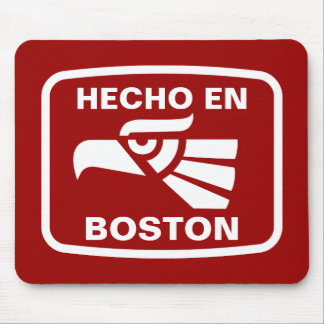Hecho en Boston personalizado custom personalized Mouse Pads