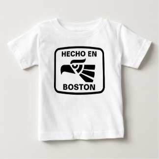 Hecho en Boston personalizado custom personalized T-shirt