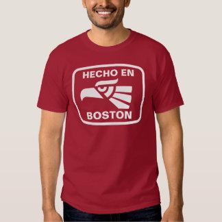 Hecho en Boston personalizado custom personalized T-shirts