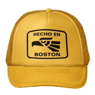 Hecho en Boston personalizado custom personalized Trucker Hat