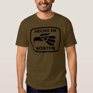 Hecho en Boston personalizado custom personalized Tshirt